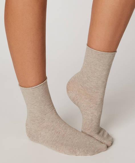 Βαμβακερή μονόχρωμη κάλτσα