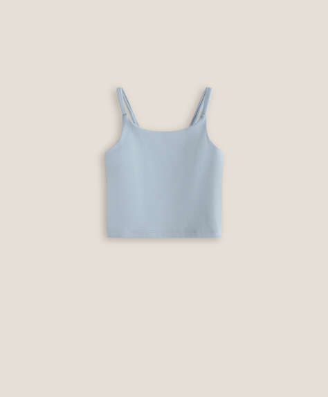 Kids' soft fabric vest top