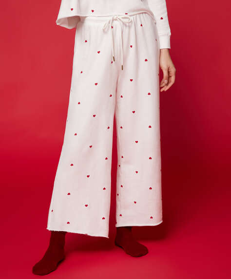 Cotton heart trousers